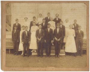 1912 Confirmation Class - Pastor Herman Barnofski