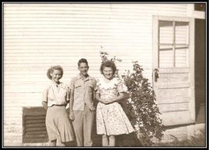 1945 Graduates - Crystal Ray Knetsch, David Schubert, Marilyn Wanda Wisian.