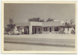 Uhland Station and Cafe on Hwy 21 built by Max Schiwitz.