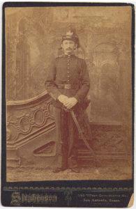 Hermann Seeliger U.S. Army service photo in 1890.