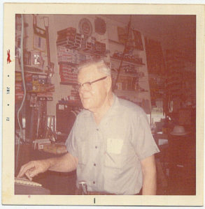 Max Schiwitz at checking counter - July 18, 1972.