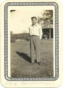 Raymond Heideman on his farm on Plum Creek.