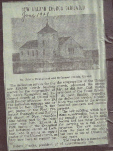Uhland Church Dedication