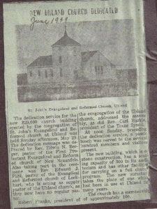 Uhland Church Dedication